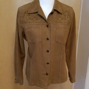 Napa Valley S faux suede shirt/jacket
